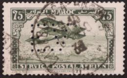 MAROC Perforé Perfin EV 13, Indice 7, YT PA5,  Perforés Perfins Colonies Colonie - Non Classificati