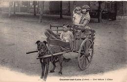 45 - LOIRET - OUZOUER SUR LOIRE   - ATTELAGE DE CHIEN -    (A-202) Voir Scan Recto Verso - Unclassified