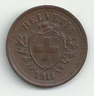 Suisse - 1 Rappen - 1911 - TB/TTB - Suisse