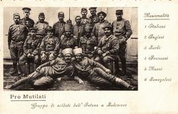 CPA - WW1 WWI Propaganda Propagande - Pro Mutilati Di Guerra - Soldati A Salonicco - Insegnanti Biellesi - NV - PV719 - War 1914-18