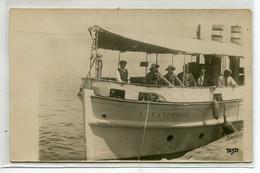 """13 MARSEILLE  CARTE PHTO Bateau De Touristes """" La Canebiere """" En Partance Voyage  Chateau D'If   écrite 1934  D09 2021 - Altri"""