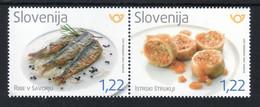 3333 Slowenien Slovenia 2020 Mi.No. 1455 - 1456 ** MNH Gastronomy Food Fish šavor Marinierte Fische Taste  Mediterranean - Slovenia