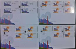 Portugal - ATM Machine Stamps - FDC (cover) X 4 - ENERGIAS ALTERNATIVAS 2006 - Affrancature Meccaniche Rosse (EMA)