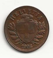 Suisse - 2 Centimes - 1906 - TB/TTB - Suisse