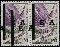 """ALGERIE """"EA"""" Poste ** - Alger, Surcharge Typo, Paire, Un Exemplaire Double Surcharge: 0.45 Kerrata - Non Classificati"""