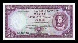 Macao Macau 50 Patacas BNU 1981 Pick 60b(4) SC UNC - Macau