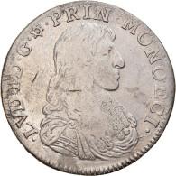 Monnaie, Monaco, Louis I, Scudo, Ecu, 60 Sols, 1668, Monaco, Très Rare, TB+ - 1505-1795 De Lucien Ier à Honoré III.