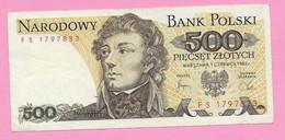 500 ZLOTYCH 1982 POLOGNE - Poland