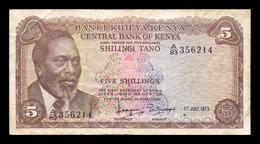 Kenia Kenya 5 Shillings 1973 Pick 6d BC F - Kenya