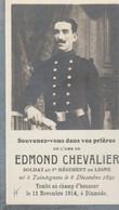 ABL, Edmond Chevalier , Né à Taintegnies Le 8 Décembre 1891 Tombé Au Champ D'honneur Le 11 Novembre à Dixmude - Obituary Notices