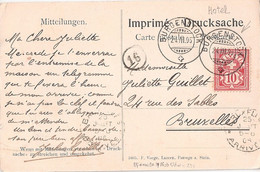 Suisse Michel 54 Yd (Yvert ) O Croix Seul Sur Carte Postale – TàD De L'hôtel Burgenstock 24,3,1905 - Non Classificati