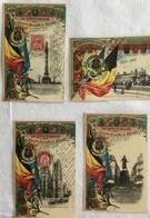 Lot De 4 Cartes -75e Anniversaire De L'indépendance Belge -Bruxelles-759 - Otros