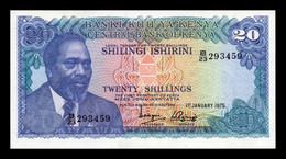 Kenia Kenya 20 Shillings 1975 Pick 13b EBC+ XF+ - Kenya