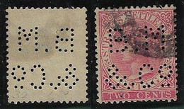 Malaysia / Straits Settlements 1879 / 1904 Queen Victoria Stamp With Perfin B.M/&Cº From Behn Meyer & Co Singapore - Straits Settlements