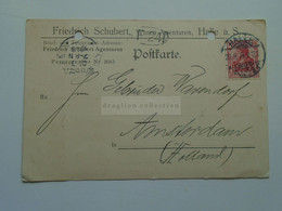 D178834  Deutschland - Postkarte - 1909  HALLE -Friedrich Schubert -sent To Amsterdam - Non Classificati