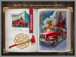NIGER 2021 MNH Fire Engines Feuerwehr Fahrzeuge Camions De Pompiers S/S - OFFICIAL ISSUE - DHQ2118 - Bombero