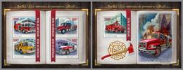 NIGER 2021 MNH Fire Engines Feuerwehr Fahrzeuge Camions De Pompiers M/S+S/S - OFFICIAL ISSUE - DHQ2118 - Bombero