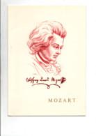 ANNEE MOZART ENCART FRANCE LIECHTENTEIN 1991 - Gedenkstempels
