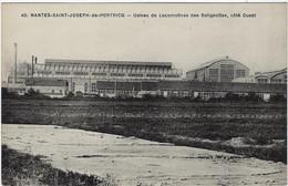 44  Nantes Saint Joseph De Portricq   -  Les Usines De Locomotives Des Batignolles , Cote Ouest - Nantes