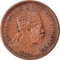 Monnaie, Éthiopie, Menelik II, 1/32 Birr, 1889, TB+, Copper Or Brass, KM:11 - Ethiopia