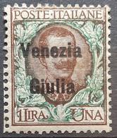 VITTORIO EMANUELE III-1 L-OVERPRINT VENEZIA GIULIA-WWI OCCUPATION-ITALY-1919 - Vénétie Julienne
