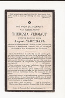Doodsprentje :  Zerkeghem - Brugge 1919 Theresia Vermaut - Devotion Images