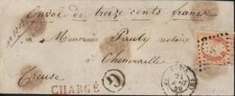 Tarif YT 16 Empire ND 40c Orange Oblit G Chargée Paris (G) 24 8 59 Cachet G Indicatif Bureau Dos Descriptif Chargement - Postal Rates