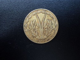 ÉTATS D ' AFRIQUE DE L ' OUEST  :  10 FRANCS   1977    KM 1a     TTB - Other - Africa