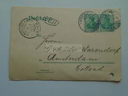 D178840  Deutschland - Postkarte - 1907  Vreden In Nordrhein Westfalen - Sent To  Gebr. Warendorf  Amsterdam - Unclassified