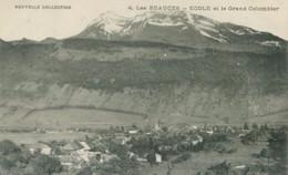 Les Bauges 1920; Ecole Et Le Grand Colombier - Non Voyagé. (Nouvelle Collection) - Albertville