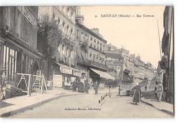 CPA 50 Saint Lo Rue Torteron - Saint Lo