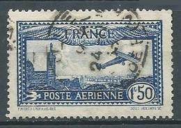 France Poste Aérienne YT N°6 Avion Survolant Marseille Oblitéré ° - 1927-1959 Used