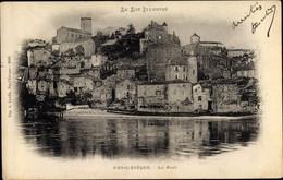CPA Puy L'Évêque Lot, Vue Générale Du Village, Le Port - Otros Municipios