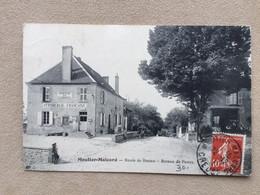 MOUTIER-MALCARD- Creuse-Route De Bona–bureau De Poste. J'étais Dans La Salle De Barre De Gens Avec Des Plateaux Et Labo - Other Municipalities