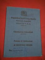SOMALI  DRIVER'S  LICENSE   1980 - Documents Historiques