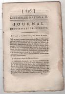 REVOLUTION FRANCAISE JOURNAL DES DEBATS 24 09 1791 - SAYAT MARSAT - TRESORERIE - VARENNES - ROBESPIERRE COLONIES BARNAVE - Newspapers - Before 1800