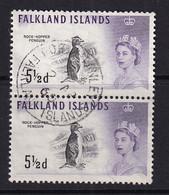 Falkland Is: 1960/66   QE II - Birds   SG199    5½d     Used Pair - Falkland