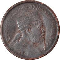 Monnaie, Éthiopie, Menelik II, 1/32 Birr, 1889, TB, Copper Or Brass, KM:11 - Ethiopia