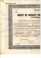 Diplome Brevet Enseignement Primaire Garcons Yonne Dijon Université France Morisset Armand Alexandre 1880 - Diplomi E Pagelle