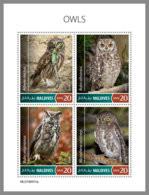 MALDIVES 2019 MNH Owls Eulen Hiboux M/S - OFFICIAL ISSUE - DH1932 - Owls