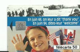 Telecarte  1944 1994 Debarquement - Army