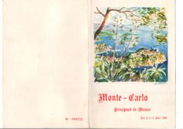 MONACO ENCART GRAND PRIX DE L'ART PHILATELIQUE 1961 - Filatelistische Tentoonstellingen