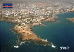 1 AK Kap Verde * Blick Auf Praia Die Hauptstadt Des Landes - Praia Liegt Auf Der Insel Santiago - Luftbildaufnahme * - Cape Verde