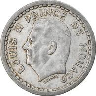 Monnaie, Monaco, 1 Franc, Undated (1943), TTB+, Aluminium, Gadoury:MC131 - 1922-1949 Louis II.