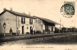 EURE ET LOIR - 28 - SAINVILLE - LA GARE - Other Municipalities