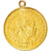 Monnaie, Éthiopie, Menelik II, 1/2 Werk, 1889 (1897), Paris, TTB, Or, KM:17 - Ethiopia