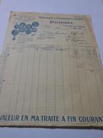 T279 - Facture De La Fromagerie Pommel à Gournay Seine-Maritime - Fromages Neufchatel Suisse Bonde Carré - Invoices