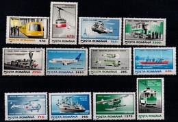 Romania 1995, Scott 4001-4006 & 4055-4060, MNH, Transportation - Ungebraucht