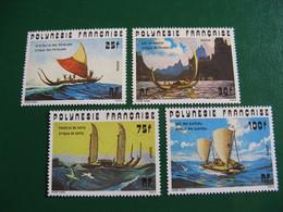 POLYNESIE YVERT POSTE ORDINAIRE N° 111/114 TIMBRES NEUFS** LUXE - MNH - COTE 23,80 EUROS - Unused Stamps