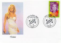 Timbre Dalida Premier Jour Oblitération 19.05.2001 PARIS - TBE - Singers